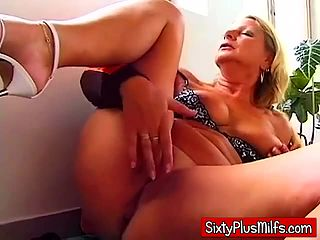 With Bored housewife pussy playing