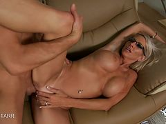Emma Starr's huge tits bounce while she gets fucked by a big dick