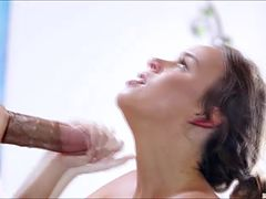 Hot babe Alexis Adams gets bang by a lucky guy and swallow a warm cum