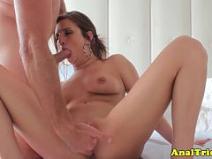 Anal loving girlfriend riding cock