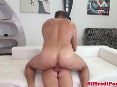Vicious euro stud loves to pounds babe
